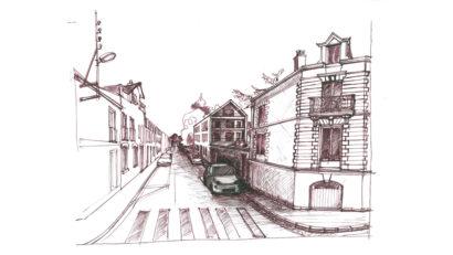 Croquis logements neufs rue Eugène Tessier